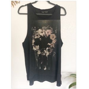 All Saints | Floral To Dust Sleeveless Tank